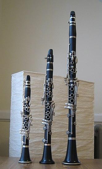 Clarinet family - Image: Aflat eflat bflat