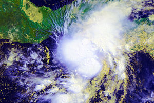 2010 Pacific hurricane season - Image: Agatha 29 May 2010 AVHRR