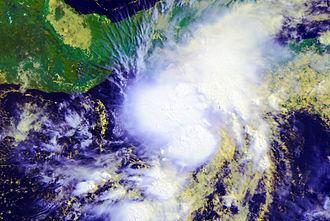 Tropical Storm Agatha - Image: Agatha 29 May 2010 AVHRR
