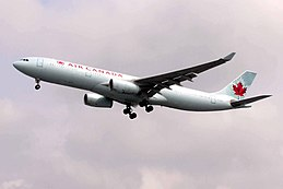 Air Canada Airbus A330-300 (C-CFAF) landing at London Heathrow Airport.jpg