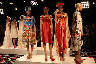 Akira Isogawa - Isogawa creations on parade at Mercedes Benz Fashion Week in Sydney, Australia (May 2012)