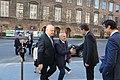 Albanian President Ilir Meta arrives at the Folketing, 8 April 2019.jpg