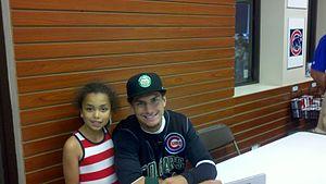Albert Almora - Almora with a fan