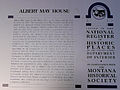 Albert May house Stevensville MT sign 2012.jpg