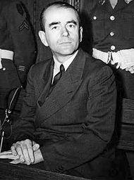 Albert Speer durant le procès de Nuremberg, en 1946