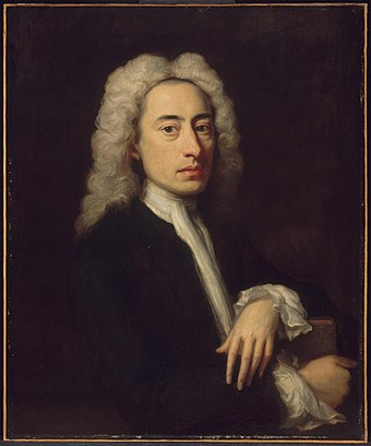 Alexander Pope, painting attributed to English painter Jonathan Richardson, c. 1736, Museum of Fine Arts, Boston Alexander Pope circa 1736.jpeg