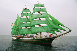Tall Ship Alexander von Humboldt, all 25 sails up