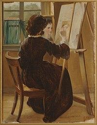 Alexandra Frosterus-Såltin - Ateljeessa (1858).jpg