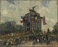 Alfred Theodore Joseph Bastien - CANADIANS PASSING WELLINGTON ARCH (CWM 19710261-0092).jpeg