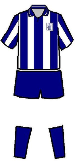 Alianza Lima - Alianza Lima's traditional uniform. The number of stripes the jersey carries has changed over the years.
