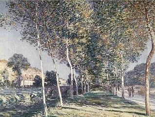 Avenue of Poplars near Moret-sur-Loing