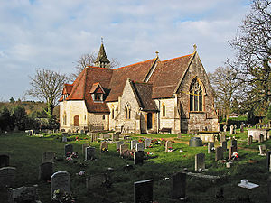 Awbridge - Image: All Saints Church Awbridge