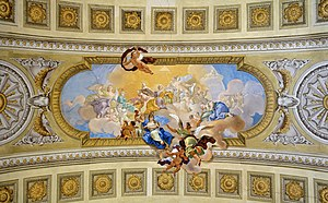 Daniel Gran - Prunksaal: allegory of peace and heaven. Ceiling painting made by Daniel Gran (1694-1757) finished in 1730.