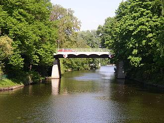 Griebnitz Canal - The Alsen bridge on the Griebnitz Canal
