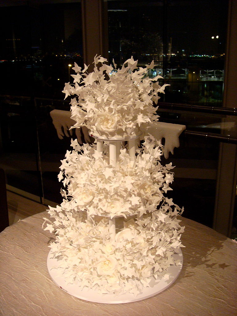 Wedding Cake Ideas Corol And Grey Color