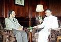 Ambassador of Oman Mr. Khalifa-Bin-Ali-Al-Harthy calls on the Union Home Minister Shri Shivraj Patil in New Delhi on June 9, 2004.jpg