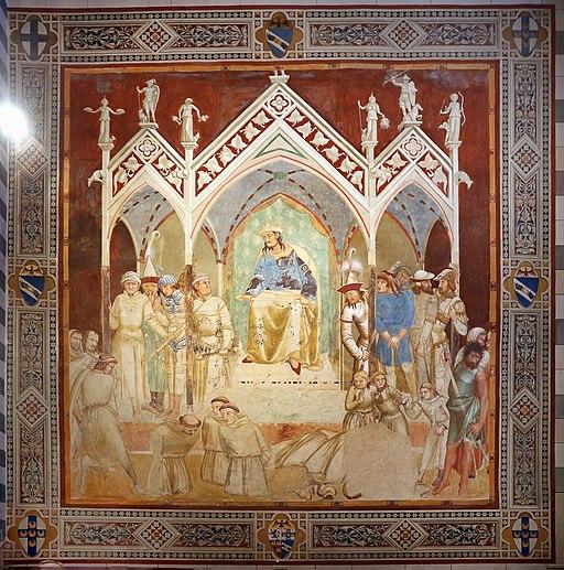Ambrogio Lorenzetti,il Martirio di frati francescani, Capella Bandini Piccolomini, San Francesco, Siena