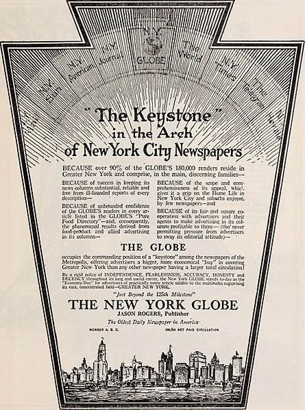 File:America's oldest daily newspaper. The New York Globe (1918) (14761894026).jpg