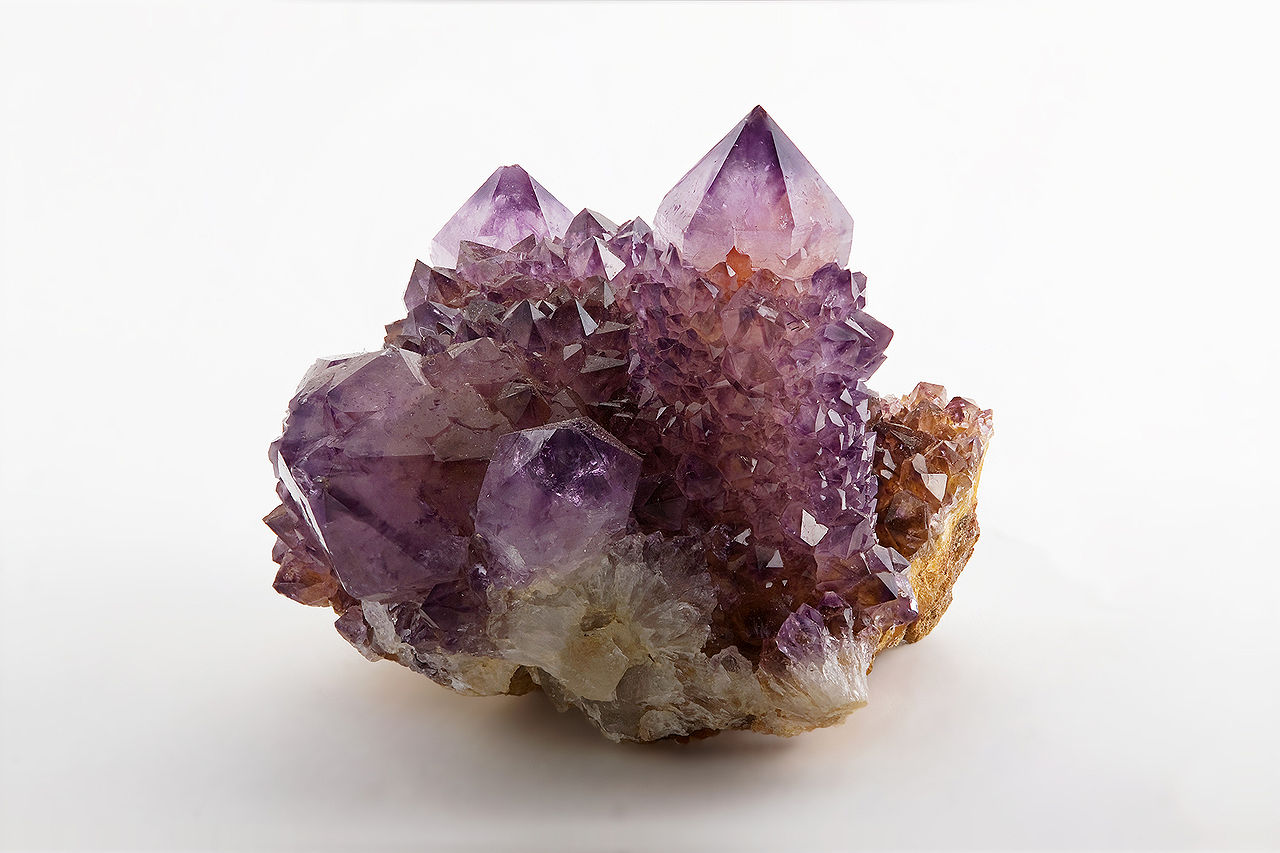 A natural cluster of Amethyst