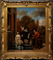 Amsterdam - Rijksmuseum 1885 - The Gallery of Honour (1st Floor) - Double portrait of Adolf Croeser and his daughter Catharina Croeser 1655 by Jan Steen.png