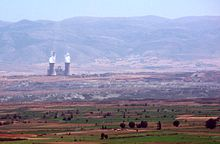 Amyndeo, Florina prefecture, Greece - Lignite power station and lignite mines - 01 cropped.jpg