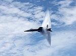 An F-A-18E Super Hornet breaks the sound barrier (36716942985).jpg