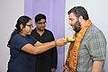 Ananya Mondal Greets Asaf Bartov - Wikidata Workshop - Kolkata 2017-09-16 2723.JPG