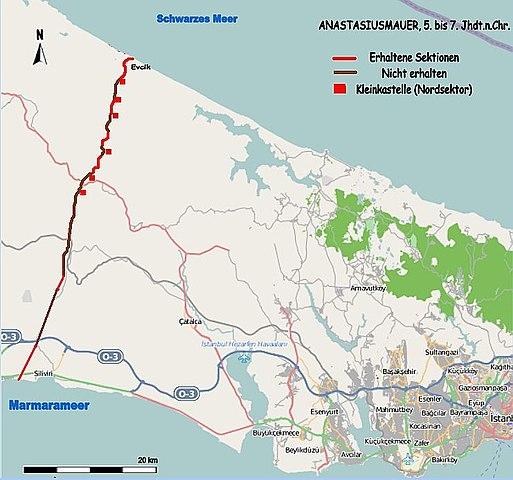 Anasztasziosz-fal - Forrás: Wikipédia