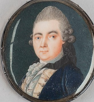 Anders Sparrman - Miniature of Sparrman at the time of his travels with James Cook. By unknown artist.