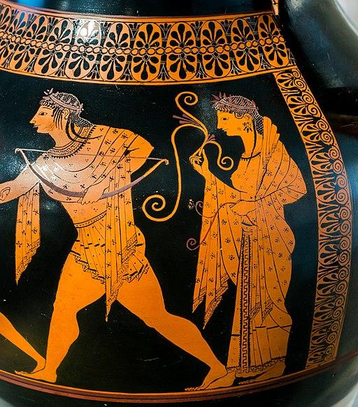 Andokides Painter ARV 3 1 Herakles Apollon tripod - wrestlers (10)