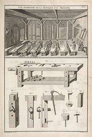 Workbench - Original Roubo workbench plans, circa 1769