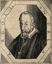 Andrea Argoli. Line engraving, 1666. Wellcome V0000197.jpg