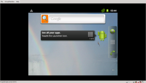 VMware Workstation Player - Screenshot showing Android 2.3.7 running on VMware Player 6.0