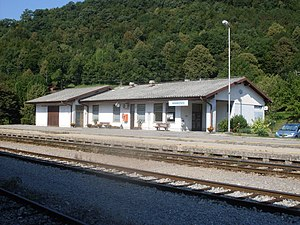 Anhovo railway station - Image: Anhovo train station
