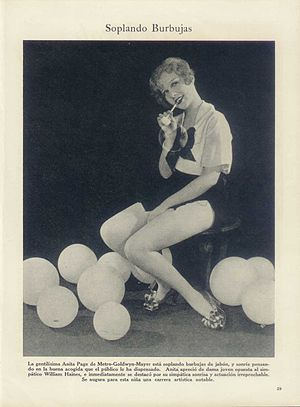 Anita Page - Anita Page in an Argentinean Magazine (1929)
