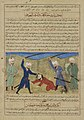 Anonymous - The Killing of Kab ben Ashraf, from a Manuscript of Hafiz-i Abru's Majma' al-tawarikh - 1965.51.3 - Yale University Art Gallery.jpg