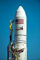 Antares Orb-D1 rocket on pad at Wallops (201309170006HQ).jpg