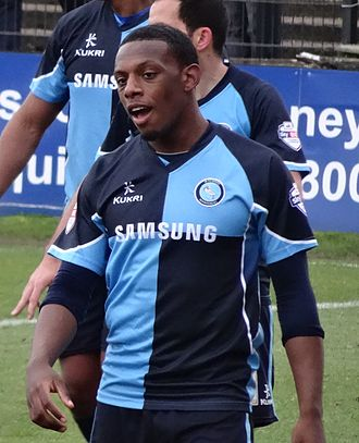 Anthony Jeffrey - Jeffrey playing for Wycombe Wanderers in 2014