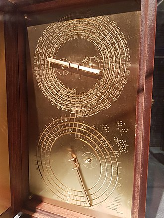 User guide - The user guide engraved into a model of the Antikythera Mechanism.