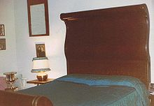 Wood Sleigh Bed King