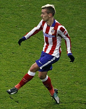 Antoine Griezmann - Griezmann playing in a Madrid derby in 2015.
