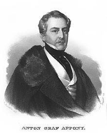 Anton Apponyi (1782–1852), Botschafter am französischen Hof (Quelle: Wikimedia)