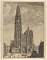Antwerp Cathedral (Prospectvs Tvrris Ecclesiæ Cathedralis) MET DP841290.jpg