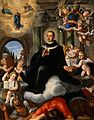 Apotheosis of an ecclesiastic. Oil painting. Wellcome V0017366.jpg