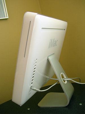 English: Apple iMac G5 side rear view.