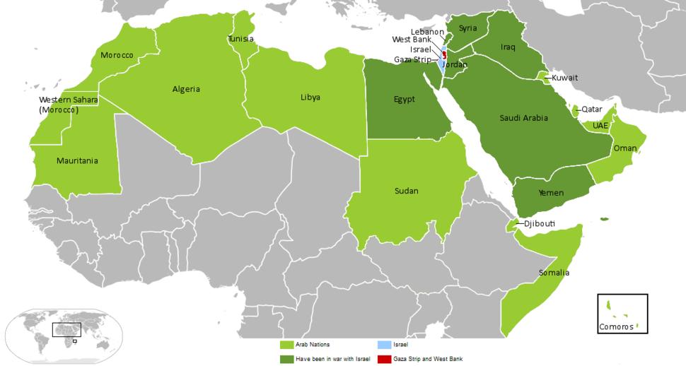 Arab-Israeli Map1