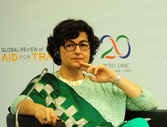 Arancha Gonzalez - Arancha Gonzalez at the Fifth Global Review of Aid for Trade, June 2015