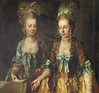 Archduchess Maria Elisabeth of Austria (1743–1808) - Liesl (left) with her older sister, Marianne