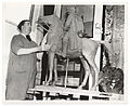 Archives of American Art - Alexander Finta with his sculpture - 2096.jpg