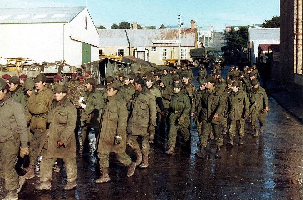 Argentine prisoners of war - Port Stanley